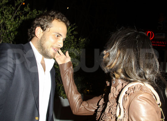 Guess Who's Saying Goodbye to a Friend After Dinner at Red O Restaurant in West Hollywood