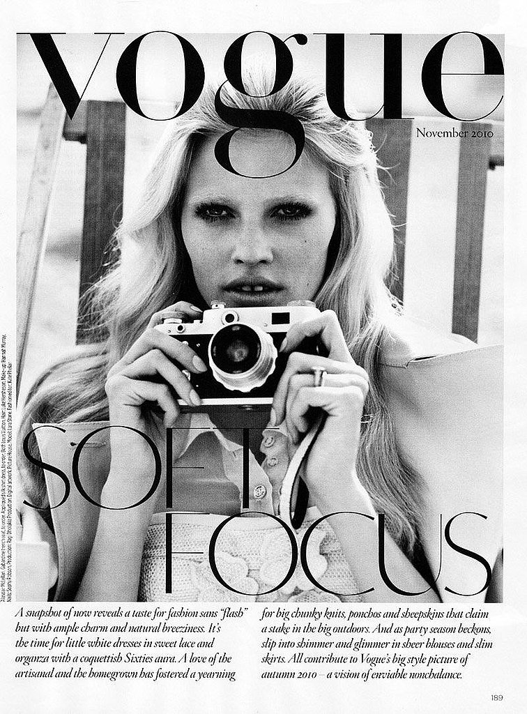 Lara turns the camera on us for Vogue UK.