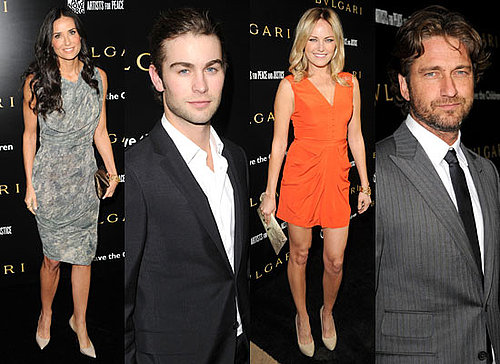 Bulgari Private Event Honouring Simon Fuller and Paul Haggis With Demi Moore, Olivia Wilde, Chace Crawford