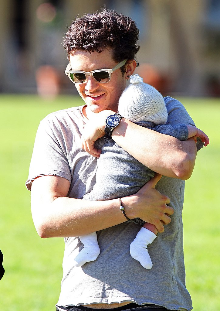 Orlando Bloom Takes Baby Flynn For a First Hike!