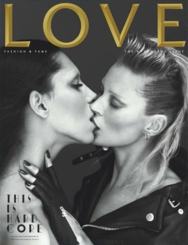 LOVE's Upcoming Spring 2011 Androgyny Issue Features Kate Moss and Transgender Model Lea T., Lips Locked (UPDATED)