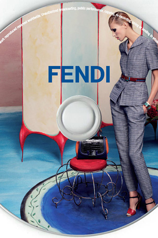 Anja Rubik for Fendi, by Karl Lagerfeld