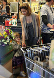 Jessica, Cash, and Honor Get Together to Grocery Shop