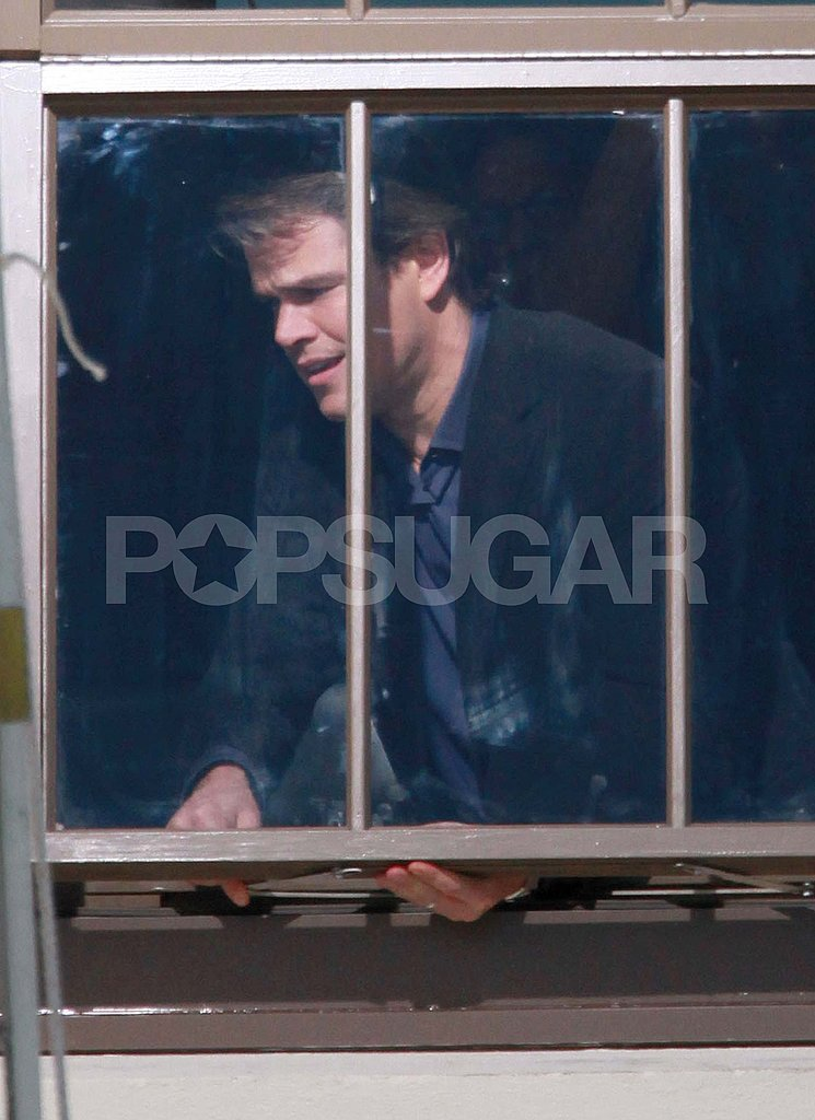 Matt Damon Goes From the Golden Globes to the Set of His New Movie
