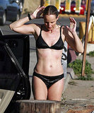 Pictures of Helen Hunt Showing Off Her Bikini Body During a Day of Surfing in Malibu