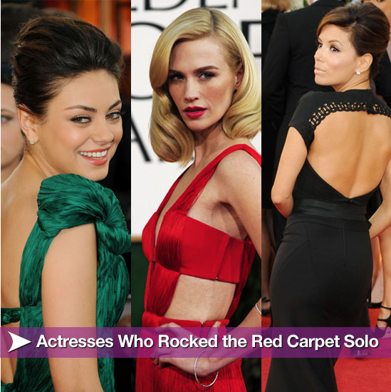 Actresses Who Rocked the Golden Globe Red Carpet Solo