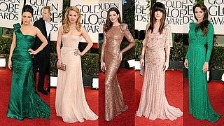 2011 Golden Globe Awards Best Dressed: Angelina Jolie, Anne Hathaway, Sandra Bullock