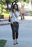 Katie Holmes Puts Her Best Foot Forward in Polka-Dot Pants