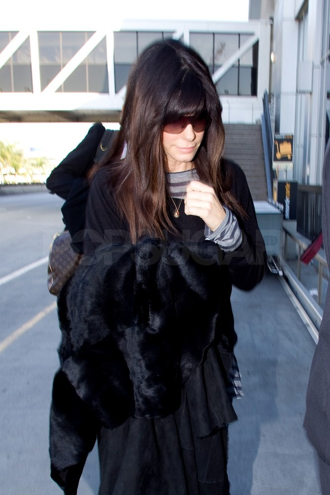 Sandra Bullock Returns Home to Her True Love Louis