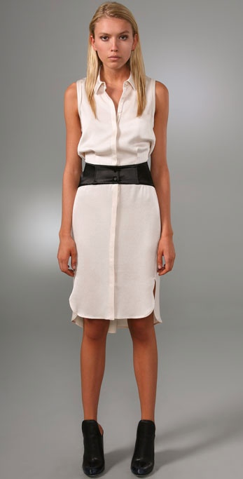 Alexander Wang Sleeveless Shirtdress With Corset Detail ($263, originally $525)