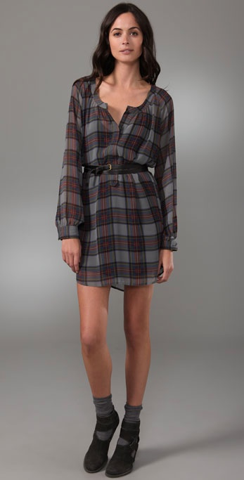 Patterson J. Kincaid Deanna Plaid Belted Dress ($111, originally $158)