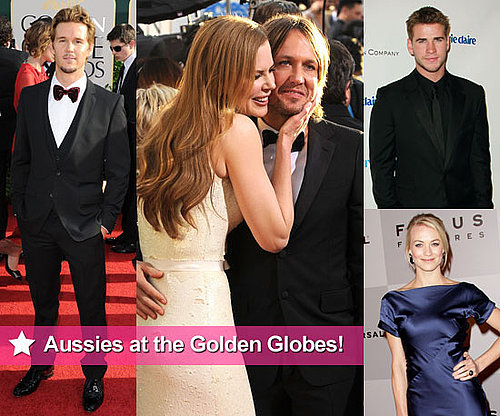 Australian Actors and Nominees at the 2011 Golden Globe Awards Including Nicole Kidman, Keith Urban, Ryan Kwanten