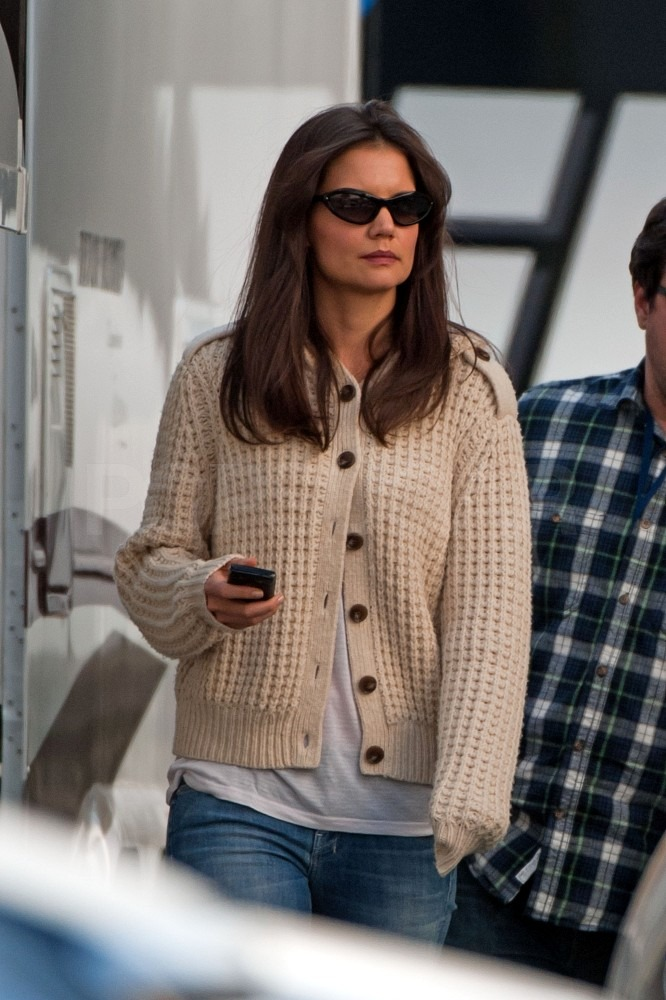 Katie Holmes Sports Her Shades Stepping Towards Another Sundance