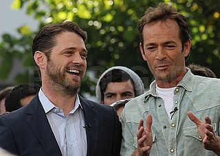 Pictures of Luke Perry and Jason Priestley Together at The Grove in LA