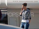 Katie Holmes Tucks in Her Tee and Gets to Work