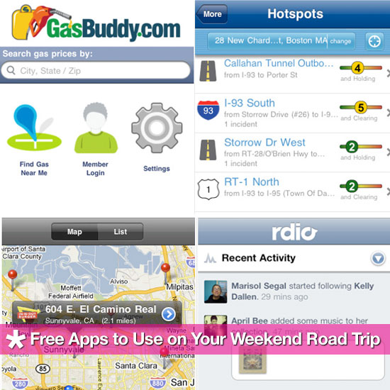 Free iPhone Apps to Use on Your Weekend Road Trip