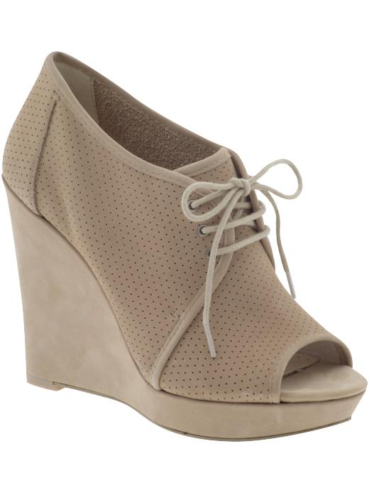 Rosegold Catherine Lace-Up Wedge ($168)