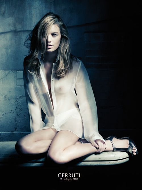 Camille Rowe for Cerruti, by Paolo Roversi