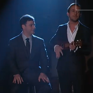 Ryan Gosling Singing and Playing Ukulele on Jimmy Kimmel Live