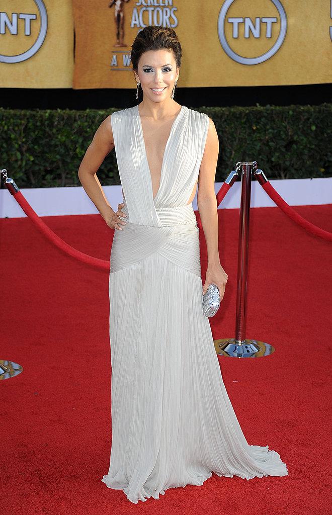 Eva Longoria Shows Skin in a Daring Dress at the SAG Awards