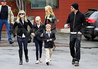 Pictures of Reese Witherspoon and Jim Toth at Church With Ava and Deacon