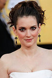 Winona Ryder's black vintage earrings were super cool.