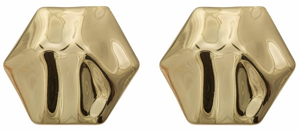 Tuleste Market Hexagon Stud Earrings ($80)