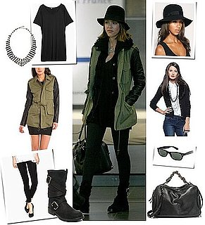 Pictures of Jessica Alba Wearing a Fedora and Motorcycle Boots