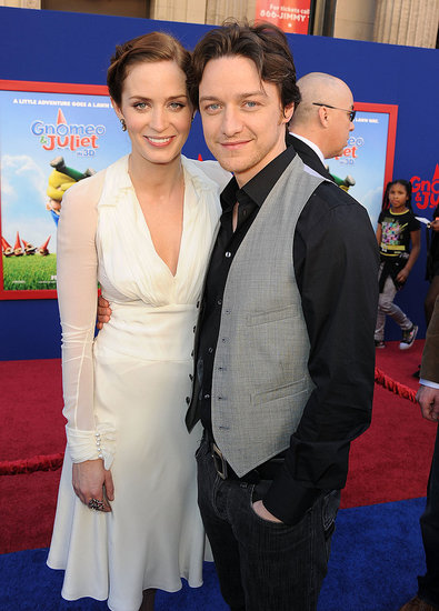 Emily Blunt Beams With James McAvoy at Gnomeo and Juliet Premiere