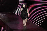 Beth Ditto ditched her shoes for her number.