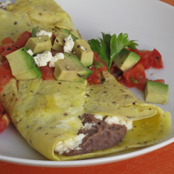 Healthy, Affordable Breakfast: Black Bean Omelet Recipe