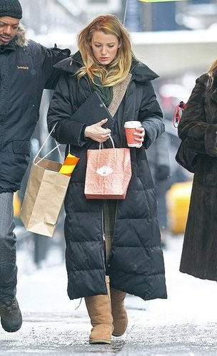 Pictures of Blake Lively and Kelly Rutherford Filming Gossip Girl in NYC