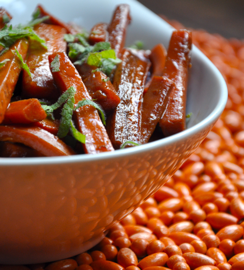 What to Make: Pomegranate-Balsamic Glazed Carrots