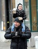 Liev and Sasha Schreiber Have a Ball Playing in the Snow!