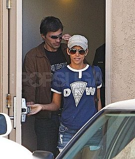 Pictures of Halle Berry In Short Shorts at Dentist With Olivier Martinez