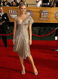 Diane Kruger, per usual, smoldered in an asymmetrical, shimmery gold gown in '07.