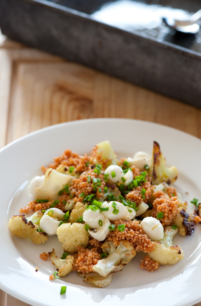 Roast Cauliflower and Quinoa Salad