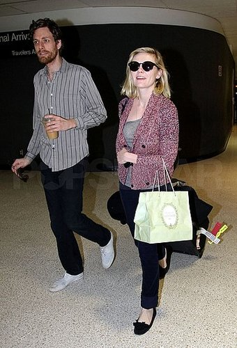 Pictures of Kirsten Dunst at LAX With Jason Boesel