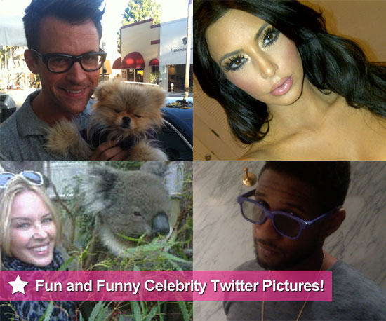 Funny Celebrity Twitter Pictures Including Kylie Minogue and Kim Kardashian