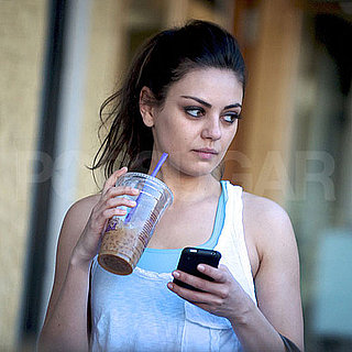 Pictures of Mila Kunis Drinking an Iced Coffee in LA