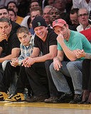 Pictures of Matt Damon, Zac Efron, Brooklyn Decker at Celtics vs. Lakers Game in LA