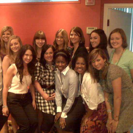 Lauren Conrad got a midday visit from the mark. cosmetics team.  Source: Twitter user laurenconrad
