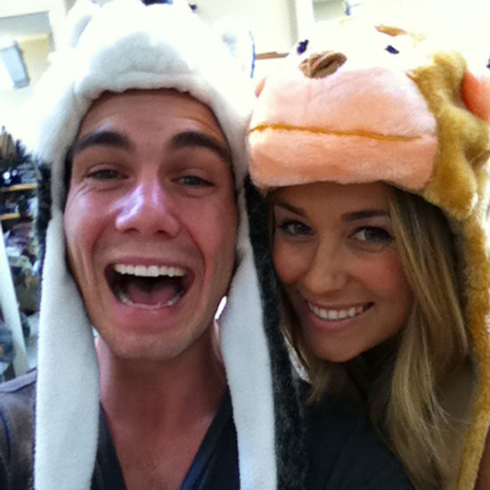 Lauren Conrad and a friend wore furry hats.  Source: Twitter user laurenconrad