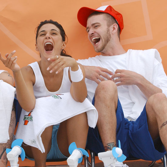 Emmanuelle Chriqui had Justin Timberlake in stitches on Miami Beach during *NSYNC's charity event in July 2003.