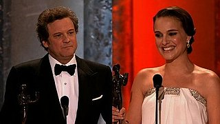 Video of Natalie Portman and Colin Firth at 2011 Screen Actors Guild Awards 2011-01-31 14:45:00