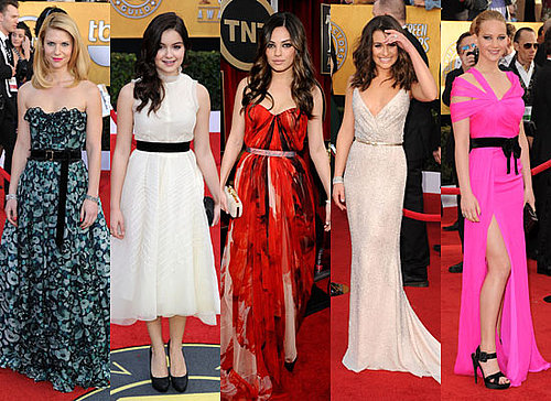 2011 SAG red carpet trends: The Belted Dress: Cinch Those Waists!
