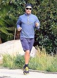 Pictures of Matthew McConaughey Going For a Run in Malibu