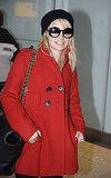 Lady in Red Nicole Richie Touches Down in London