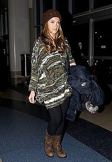 Pictures of Minka Kelly Departing Out of LAX on an Early Morning Flight