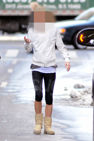 Picture of Celebrity Leaving New York Gym Wearing Uggs and Adidas